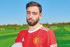 Bruno Fernandes in Man Utd's 2021/22 home kit