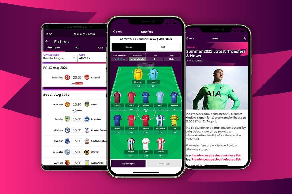 Download the Premier League app 2021/22