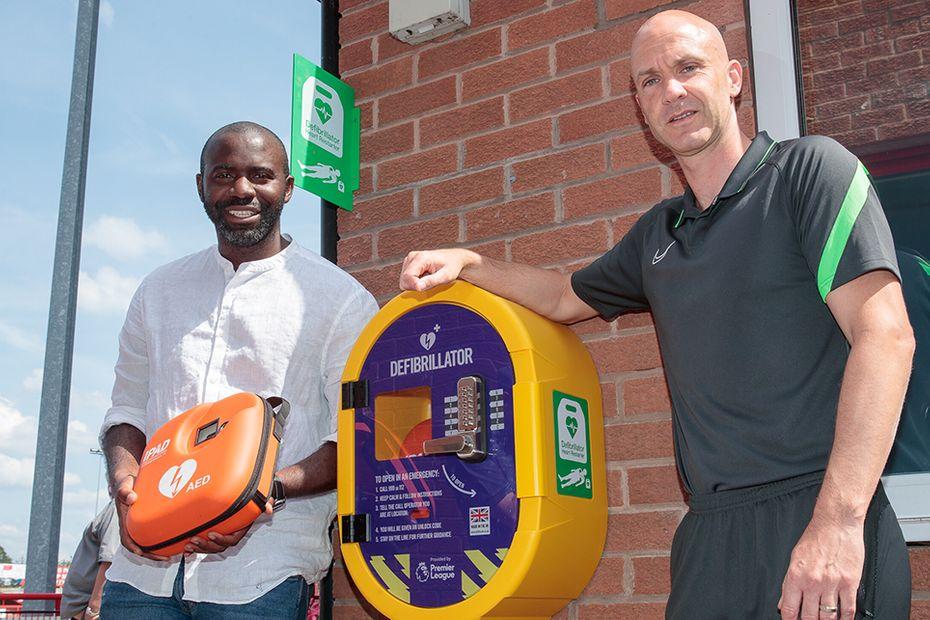 PL Defibrillator Fund installation, Fabrice Muamba, Anthony Taylor v1
