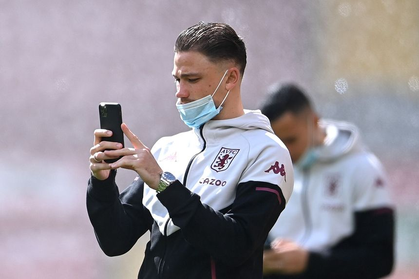 Matty Cash mobile phone