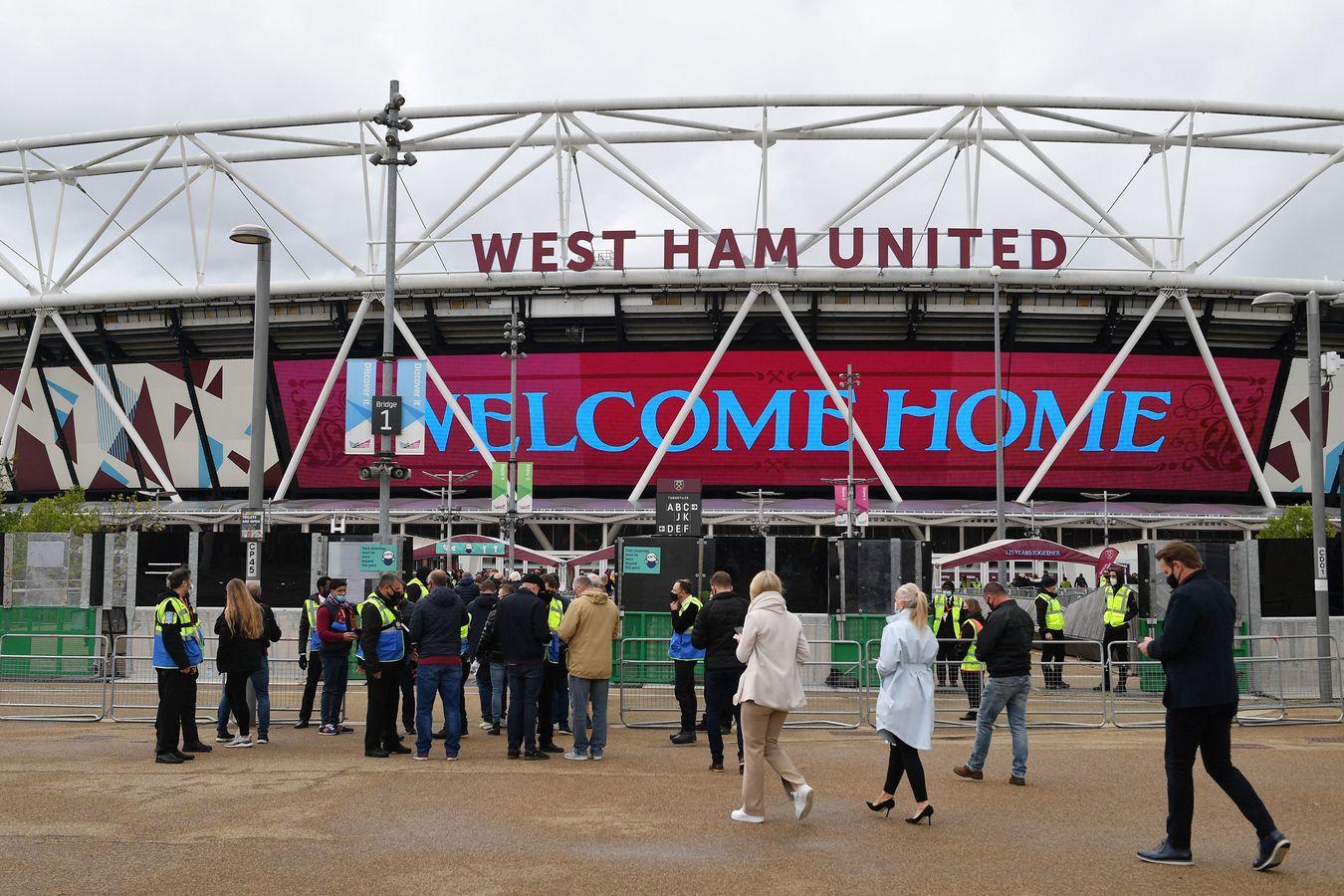 Fans outside London Stadium