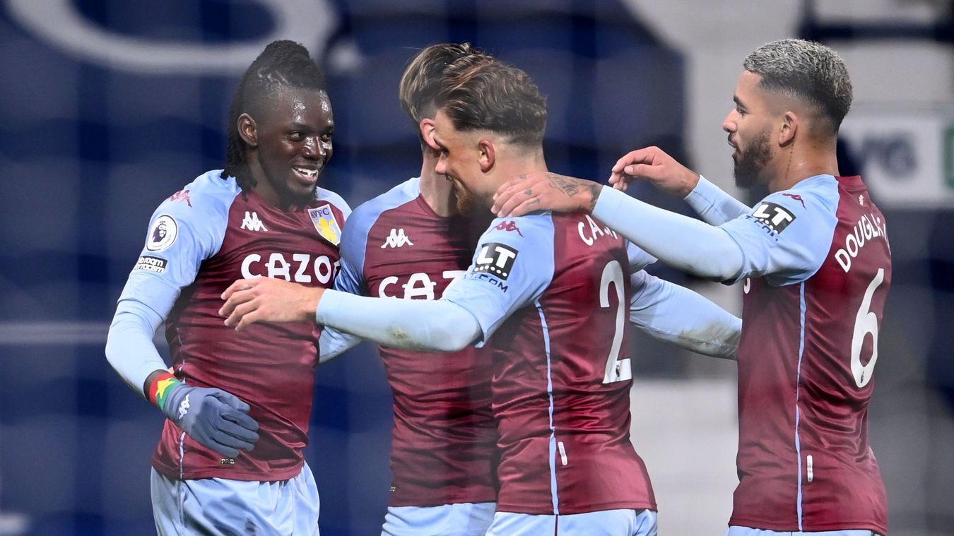 Aston Villa celebration