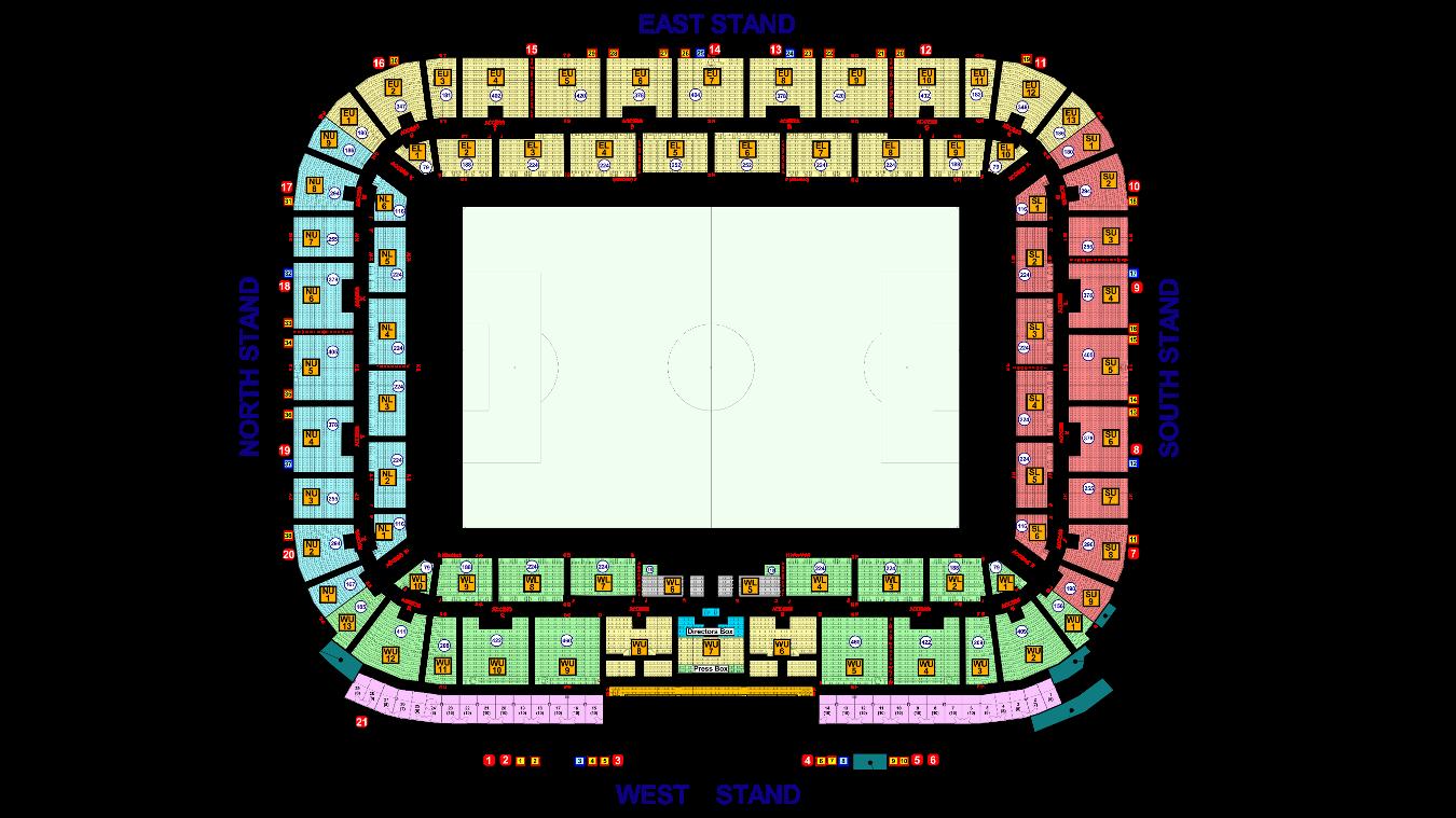 Liberty Stadium map