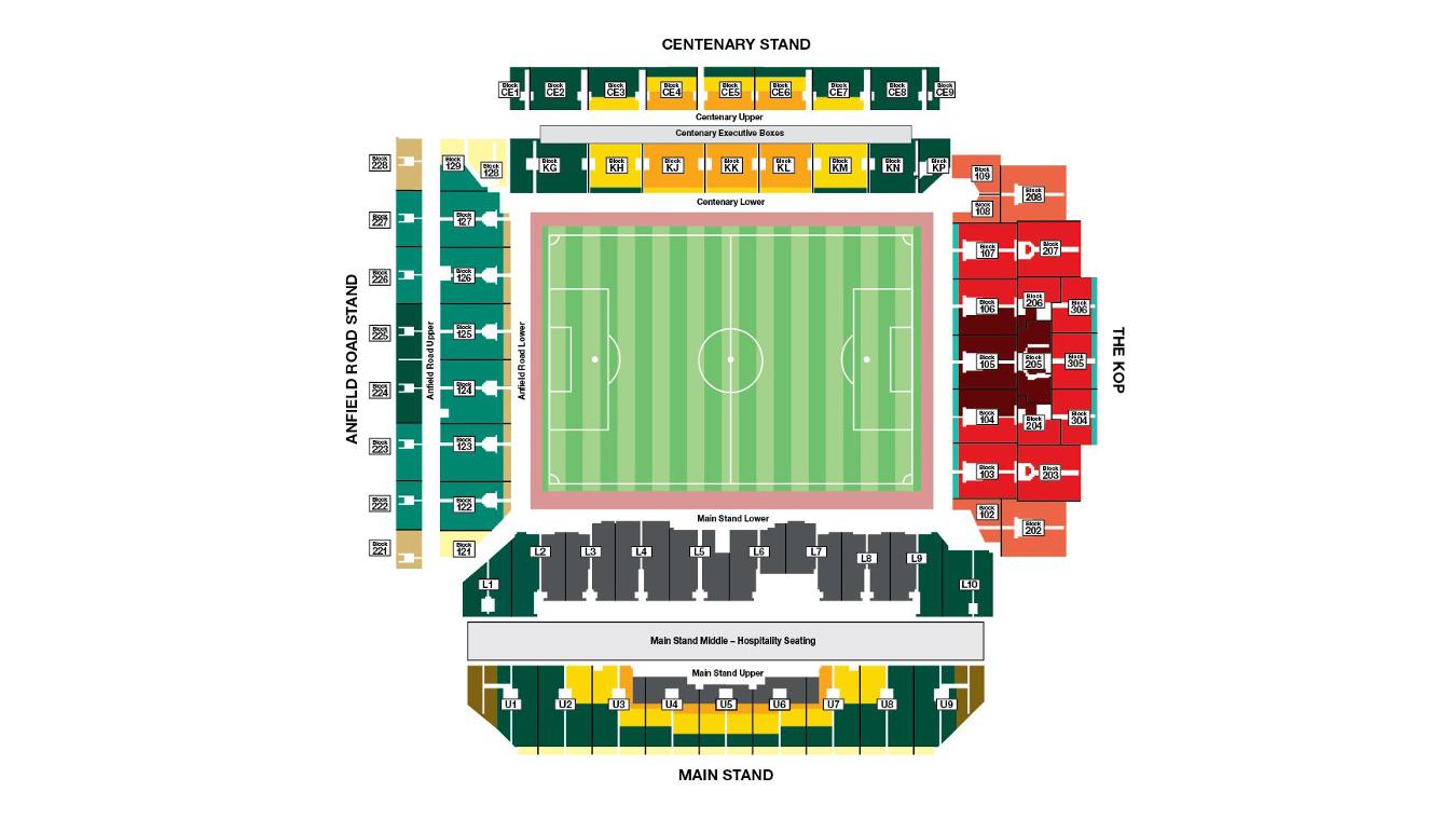 Anfield Stadium map