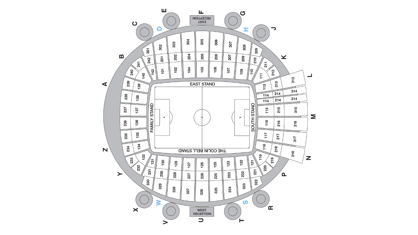 Etihad Stadium map