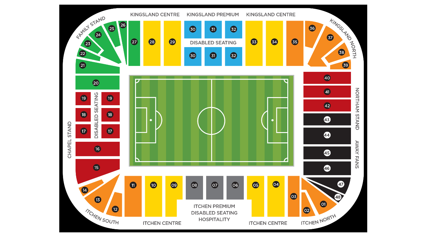 St Marys Stadium map