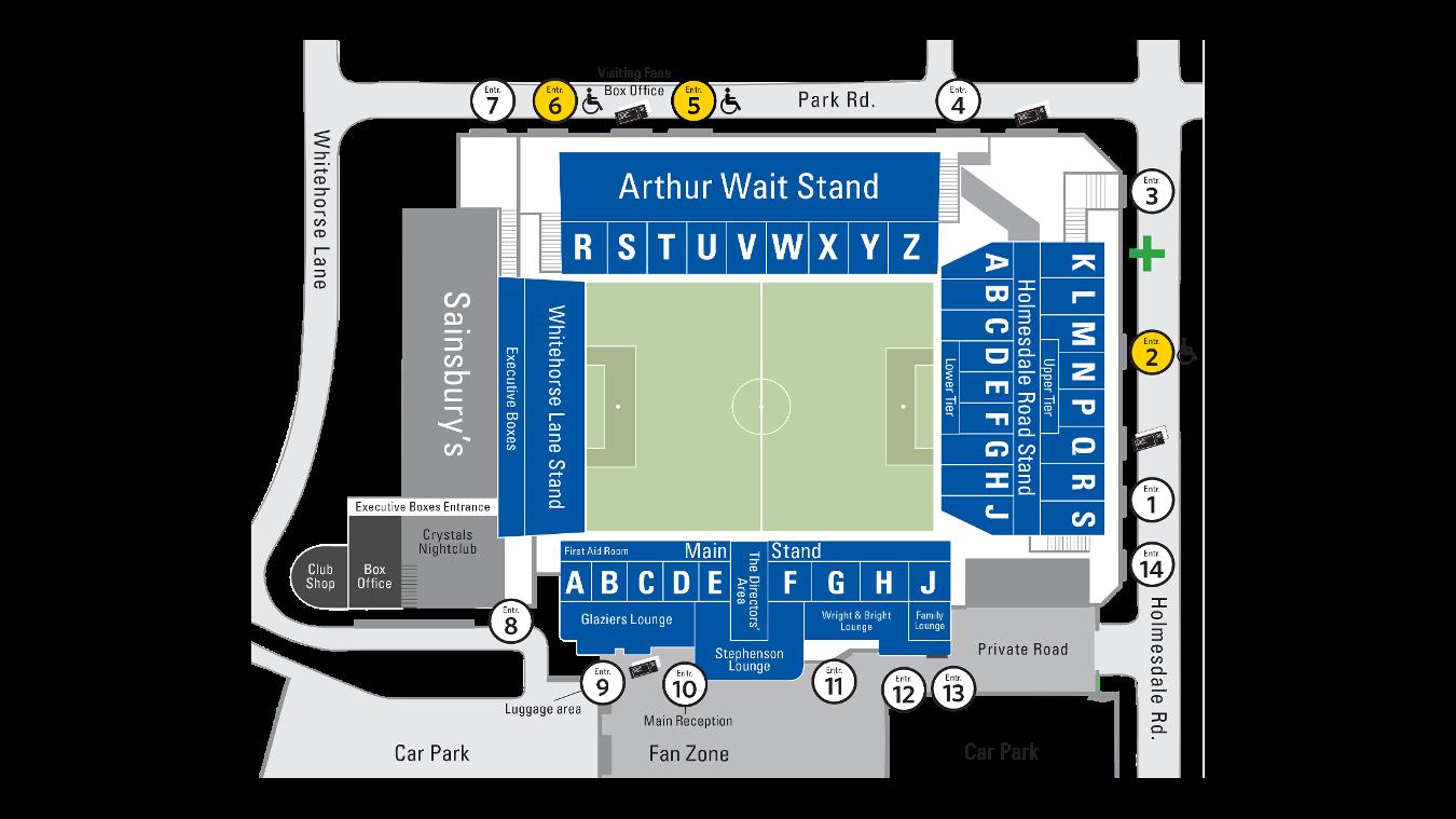 Selhurst Park Stadium map