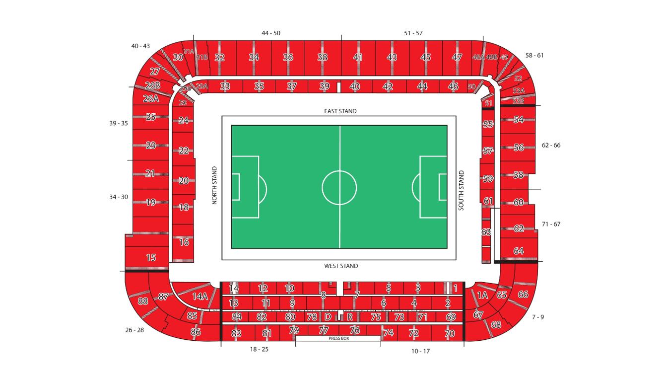 Riverside Stadium map