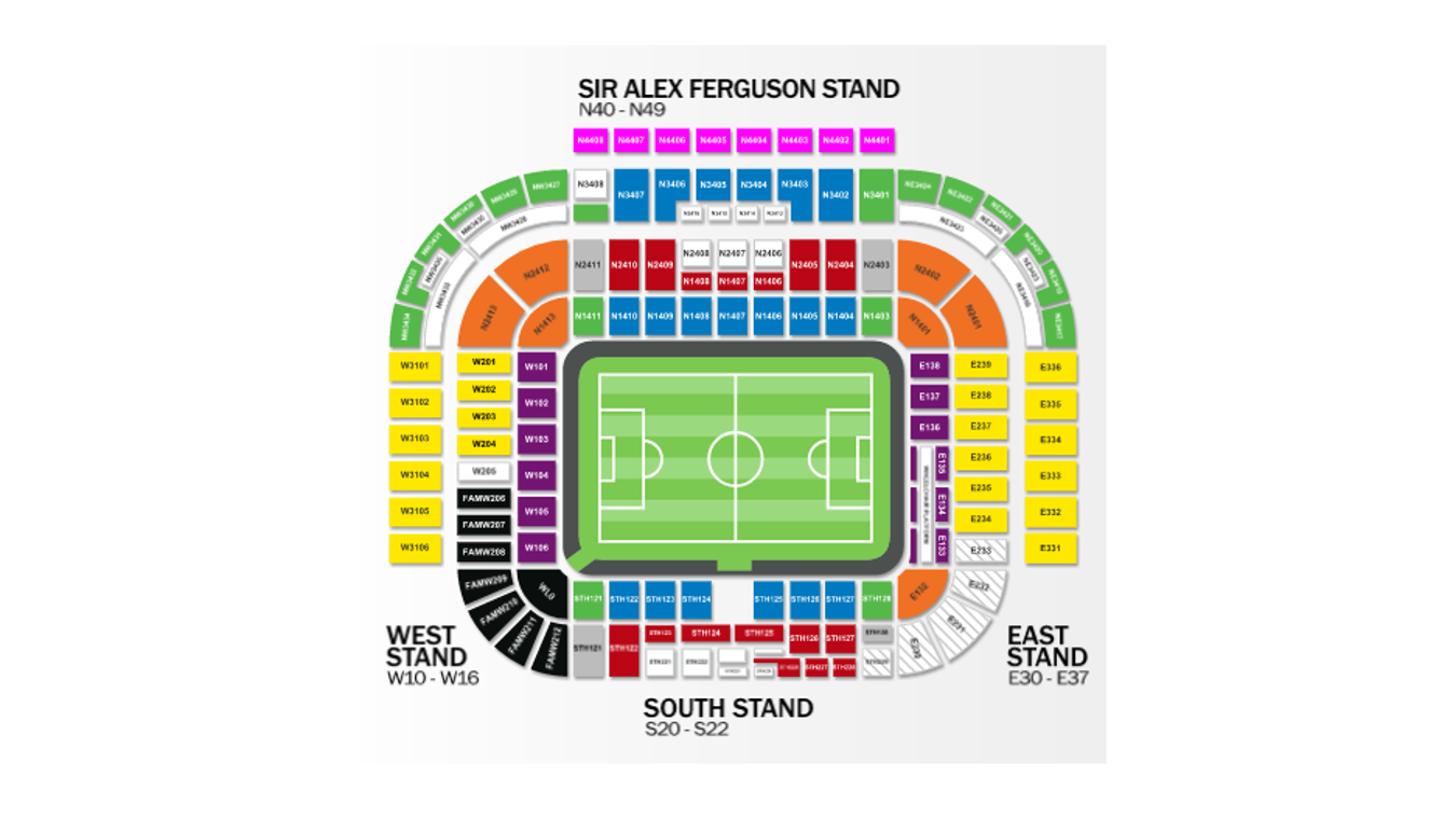 Old Trafford Stadium maps