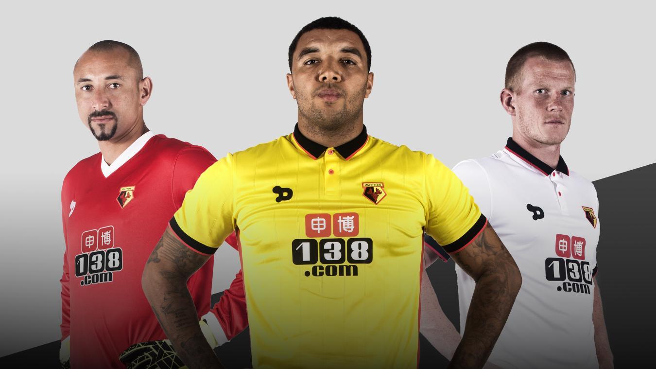 Watford's home and away kits