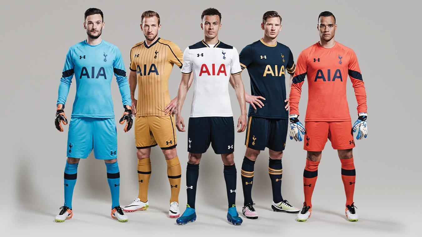 Tottenham Hotspur's home, away and third kits