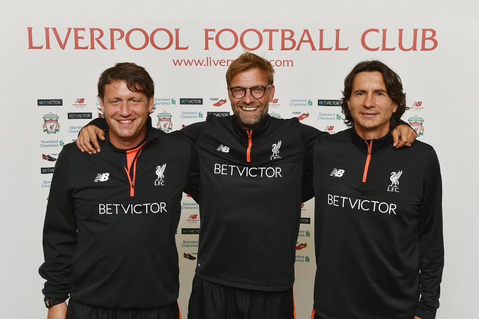 Liverpool manager Jurgen Klopp and his coaching staff