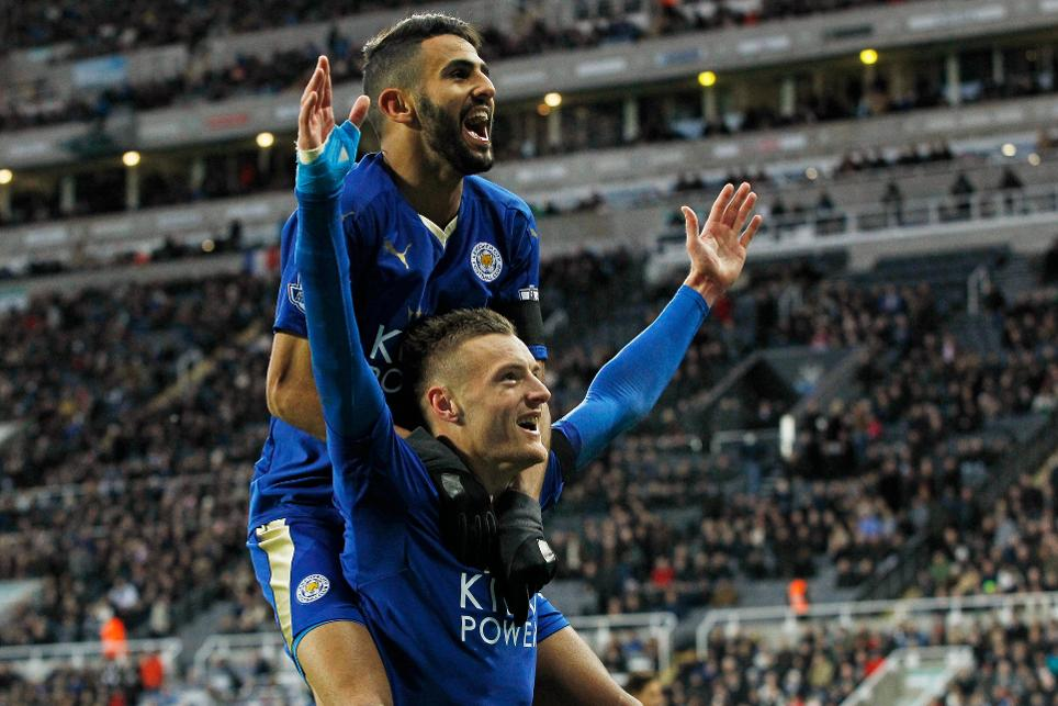 Jamie Vardy and Riyad Mahrez, Leicester