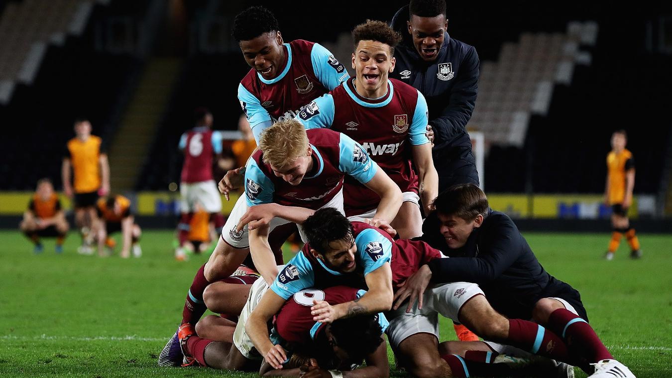 West Ham, U21 Premier League Cup win