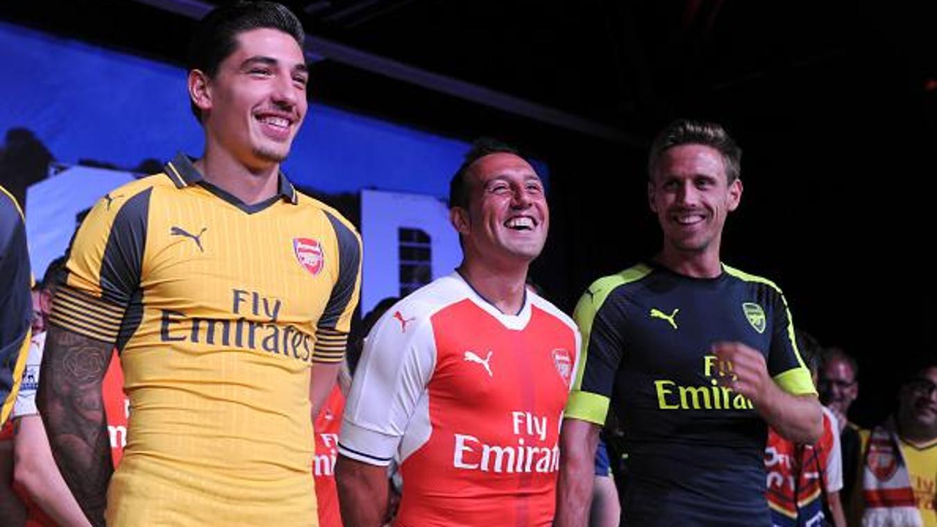 Arsenal unveil three kits