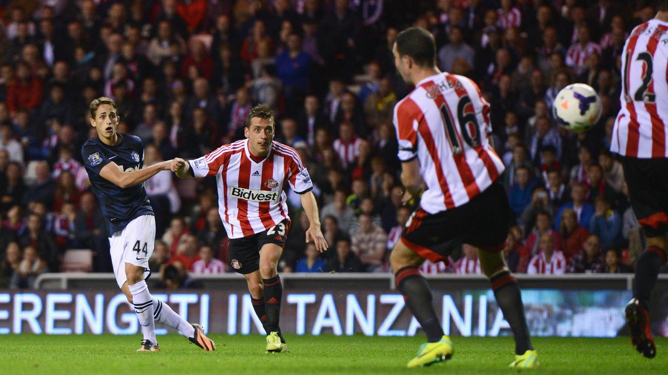 Adnan Januzaj scores for Man Utd at Sunderland