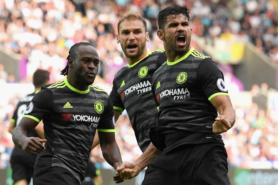Diego Costa, 2nd goal cele, Swansea City v Chelsea, 110916