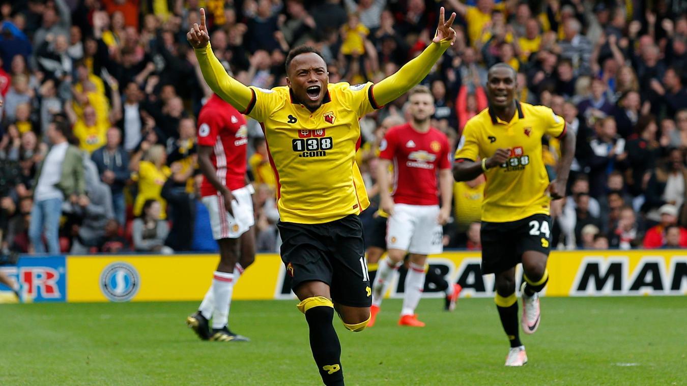Watford v Manchester United, Juan Camilo Zuniga goal cele, Watford v Man Utd