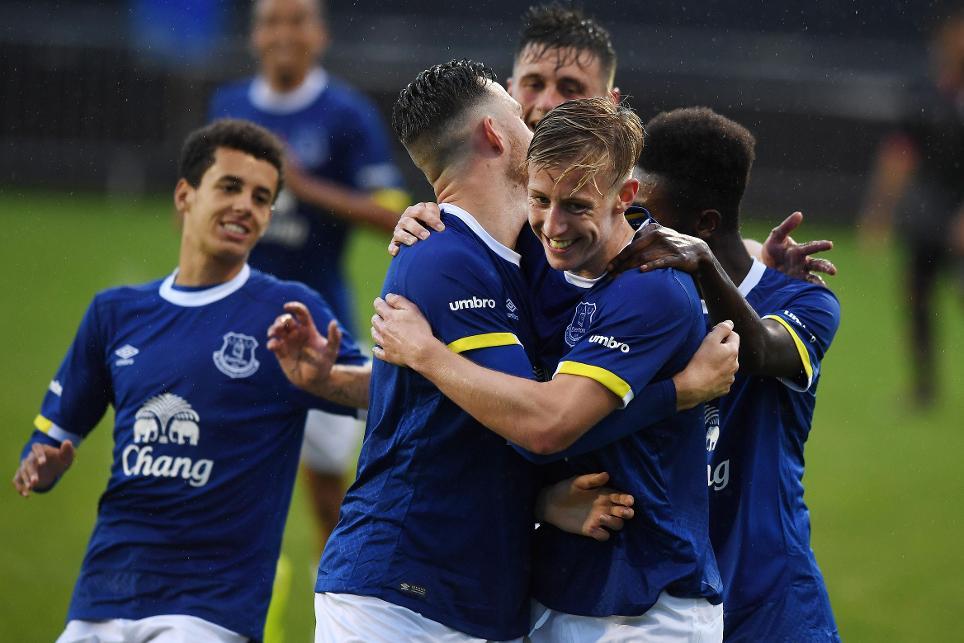 Everton's PL2 team celebrate