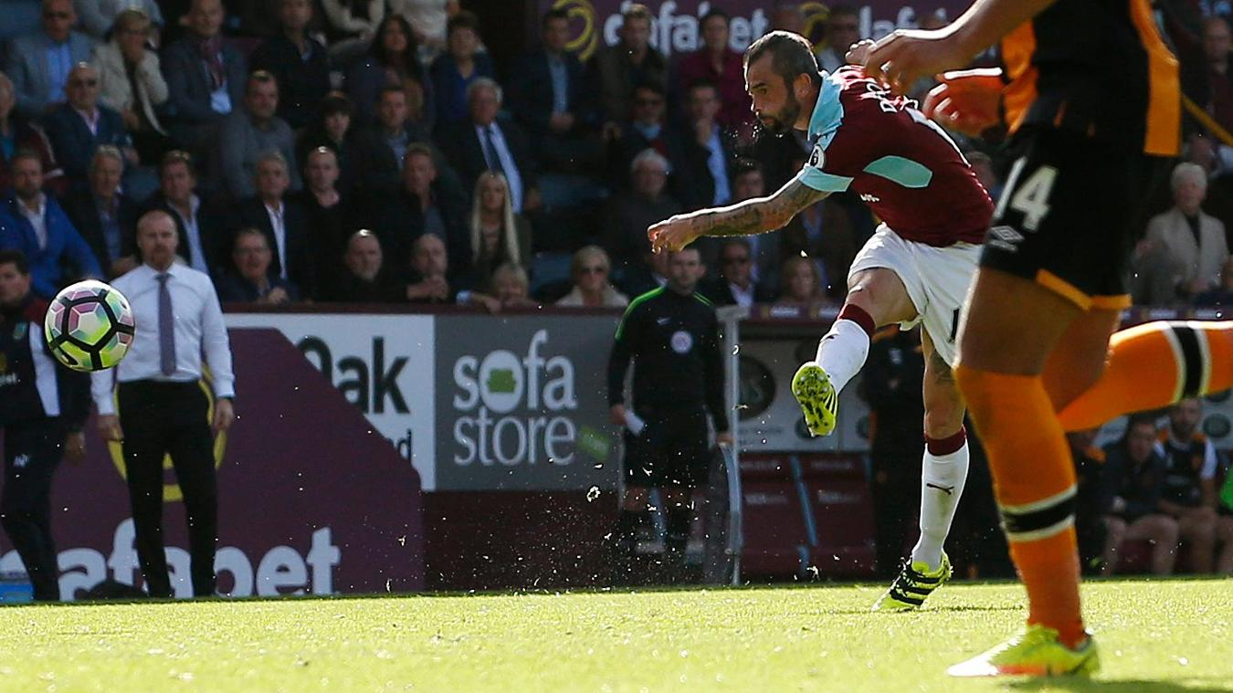 Steven Defour goal, Burnley vHull City, 100916