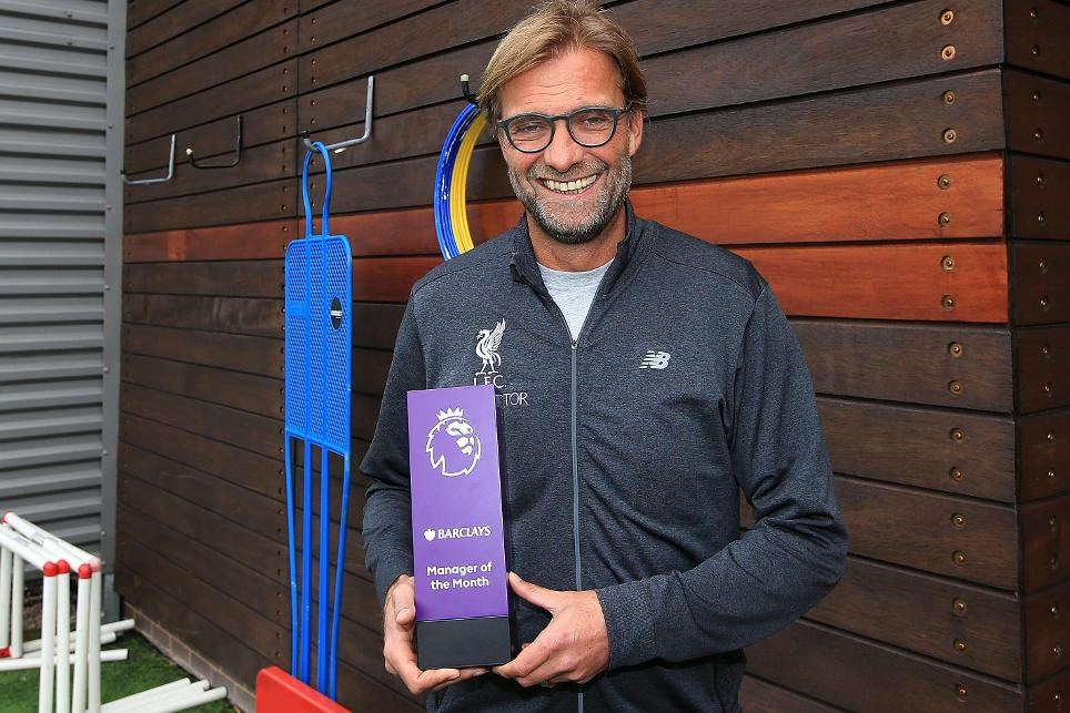 Jurgen Klopp, September's Barclays Manager of the Month
