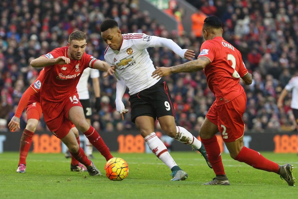 Liverpool v Man Utd, 2015/16