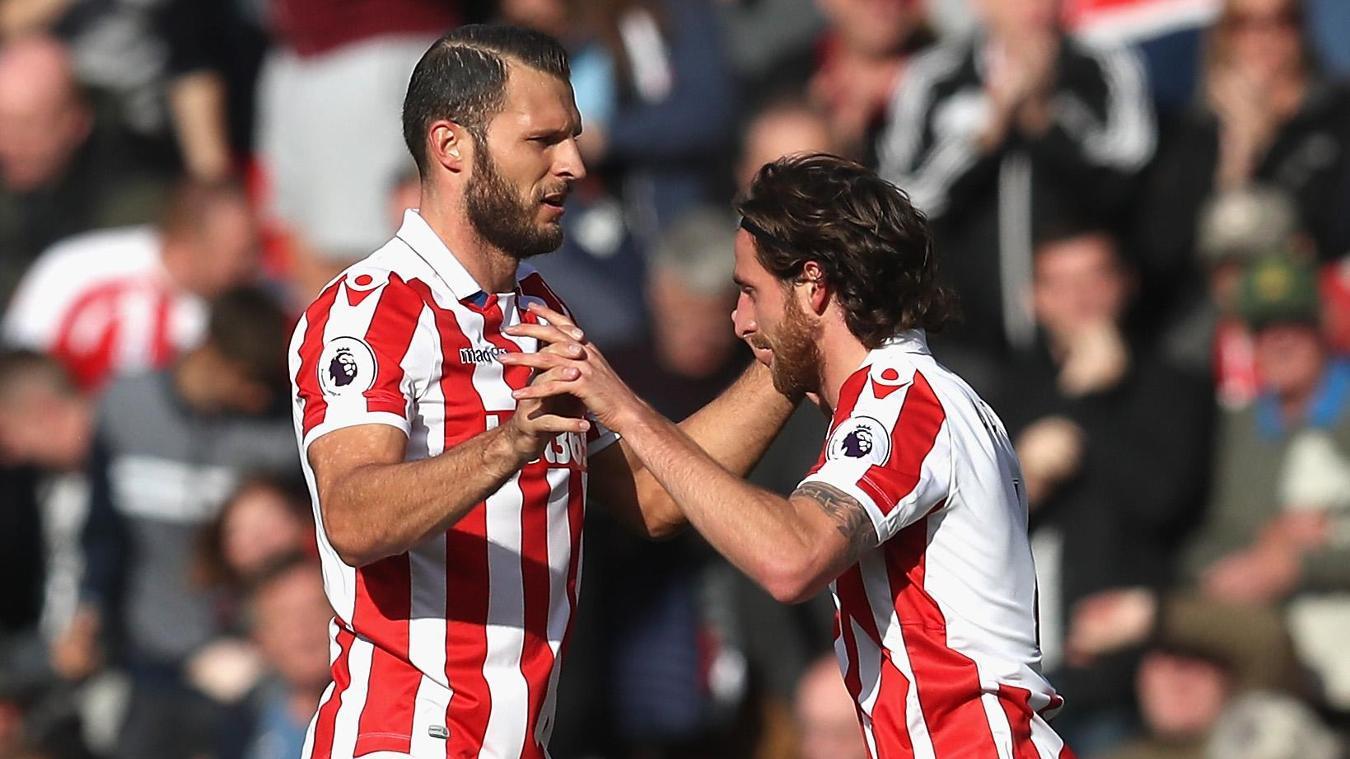 Erik Pieters and Joe Allen, Stoke