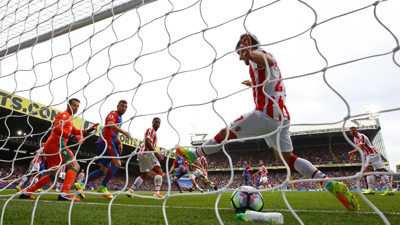 Crystal Palace v Stoke City, Dann goal