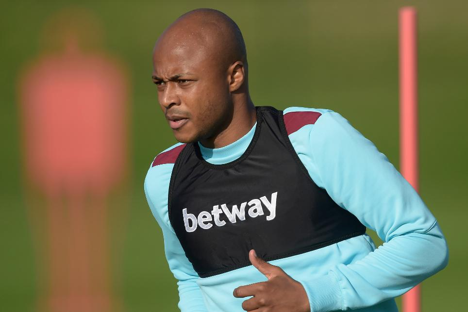 Andre Ayew of West Ham United during Training