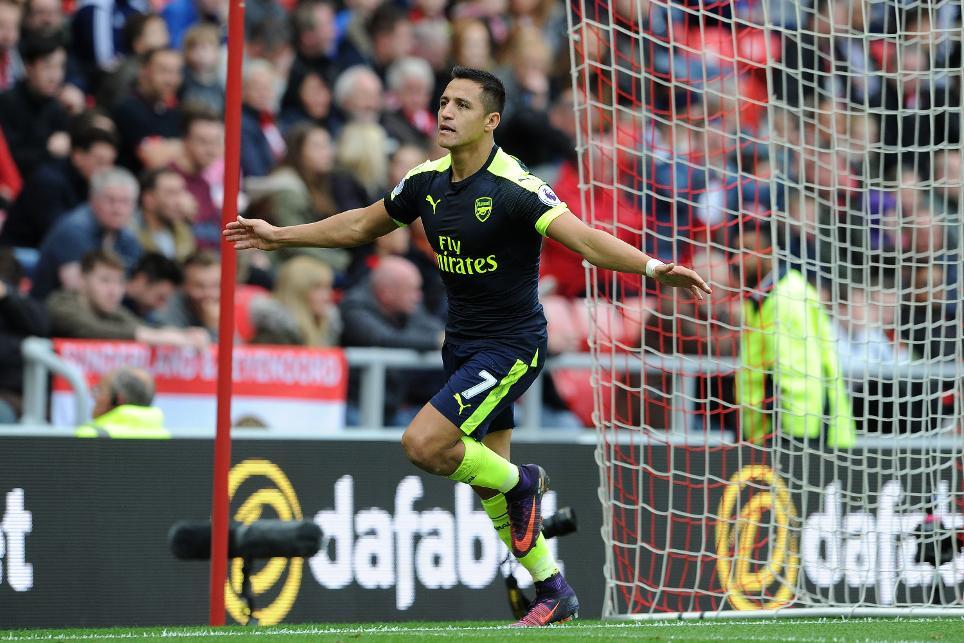 Sunderland v Arsenal, Alexis Sanchez, goal cele, 291016