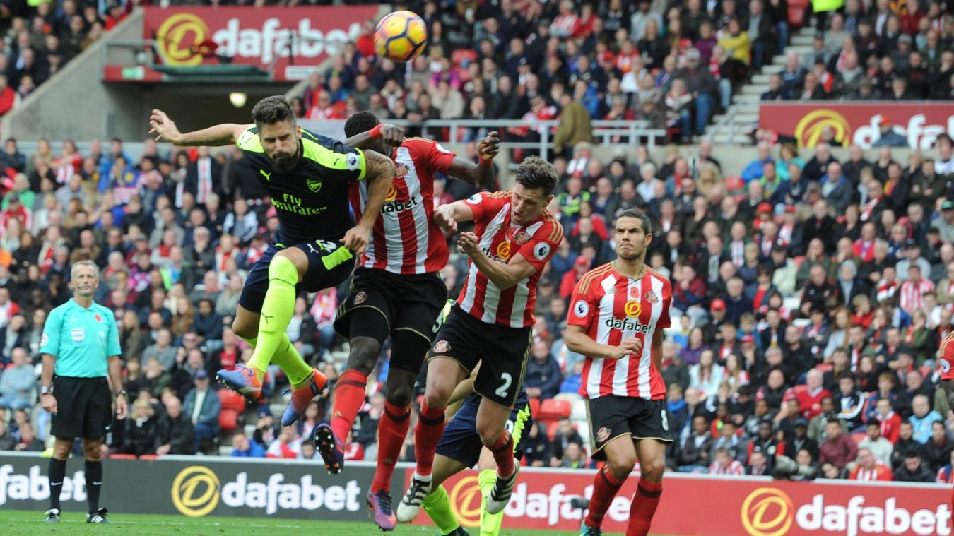 Sunderland v Arsenal - Premier League, Olivier Giroud goal, 291016
