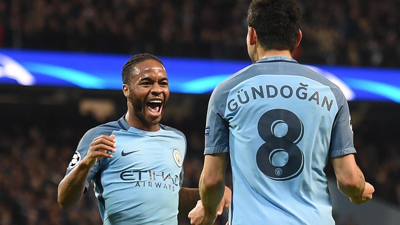 Ilkay Gundogan, Raheem Sterling, Manchester City