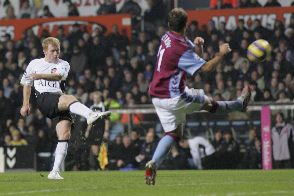Paul Scholes' stunning volley for Man Utd against Aston Villa