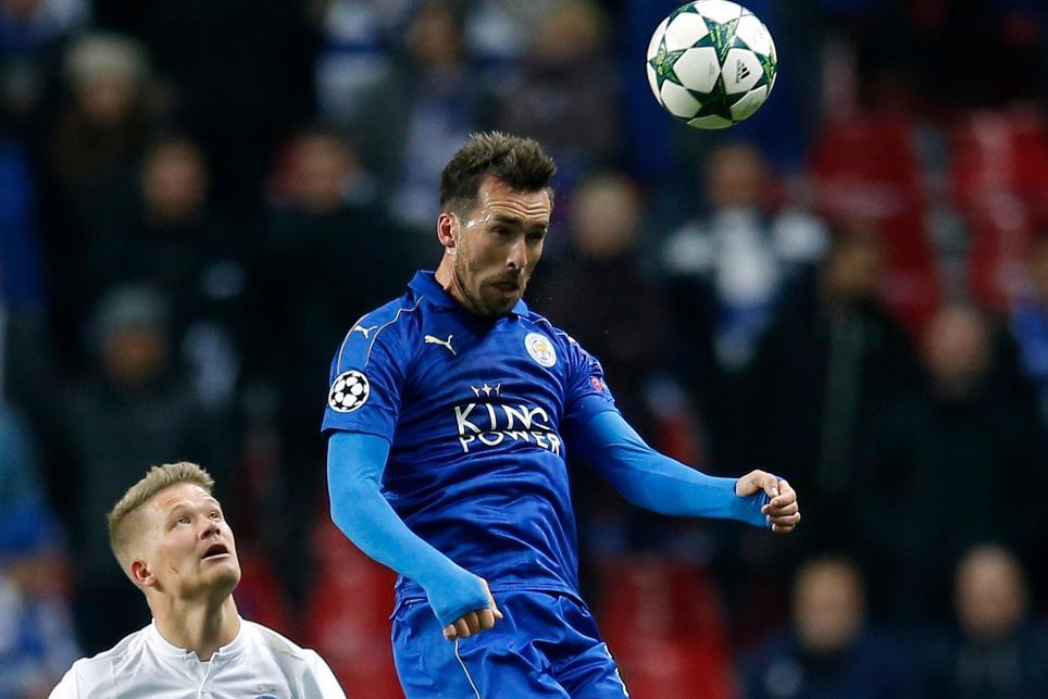 Christian Fuchs, Leicester City, UCL, FC Copenhagen, 021116