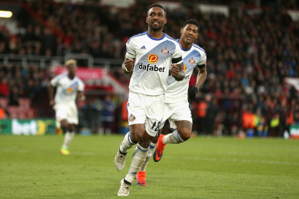 AFC Bournemouth v Sunderland, Jermain Defoe goal cele, 051116