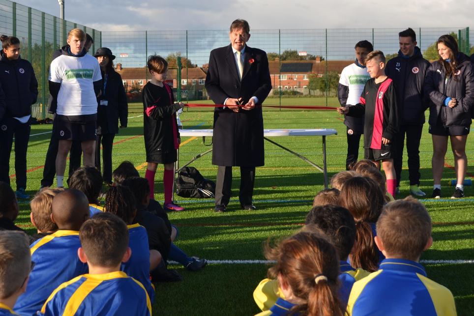 John Madejski, Reading, Premier League FA Facilities Fund, 141116