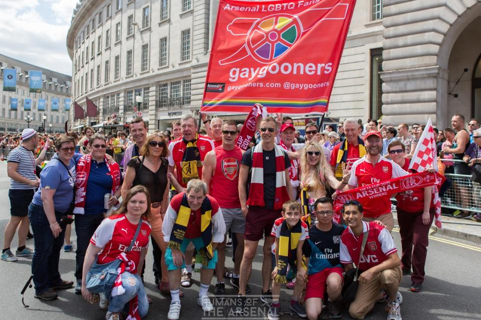 GayGooners, Rainbow Laces 2016, 271116