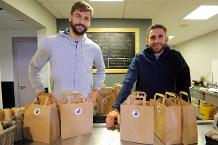 Swansea duo lend a hand at soup kitchen