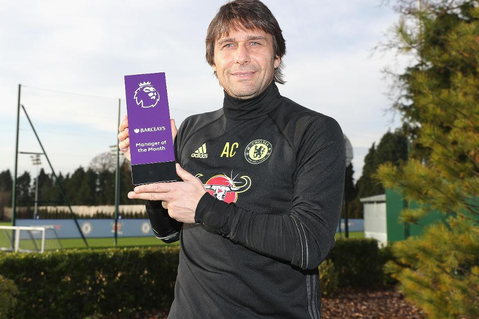 Antonio Conte wins November's Barclays Manager of the Month