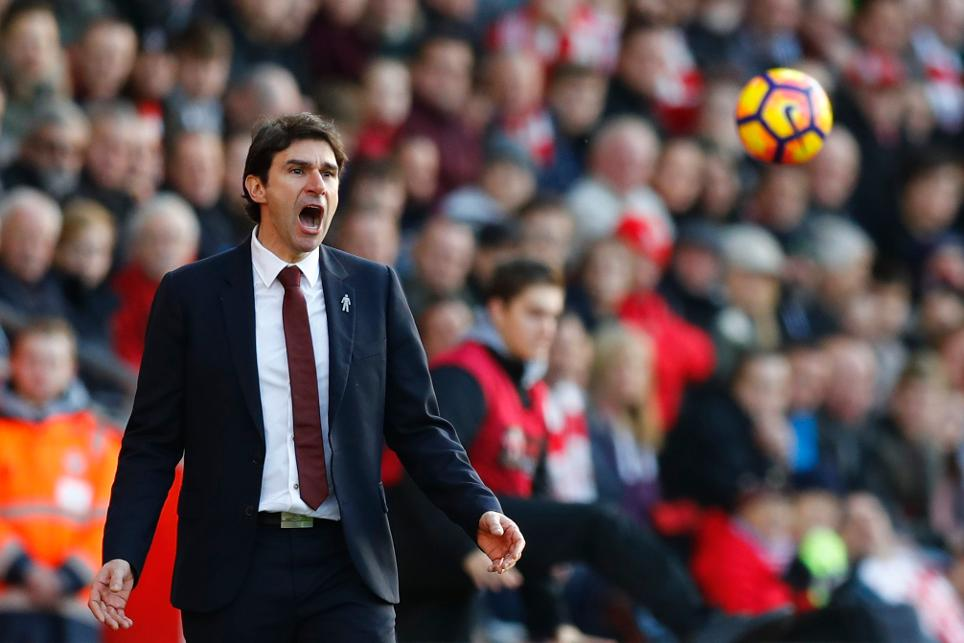 Middlesbrough manager Aitor Karanka during the match