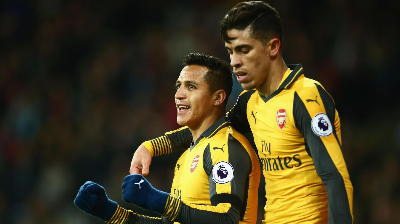 Sanchez and Gabriel, Arsenal