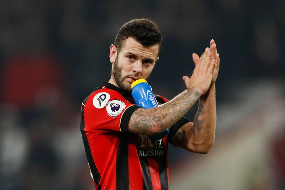 Bournemouth's Jack Wilshere applauds fans after the game