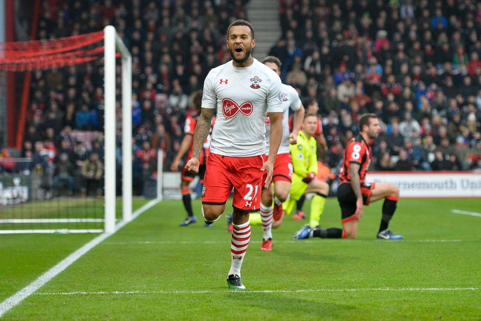 Southampton's Ryan Bertrand celebrates scoring