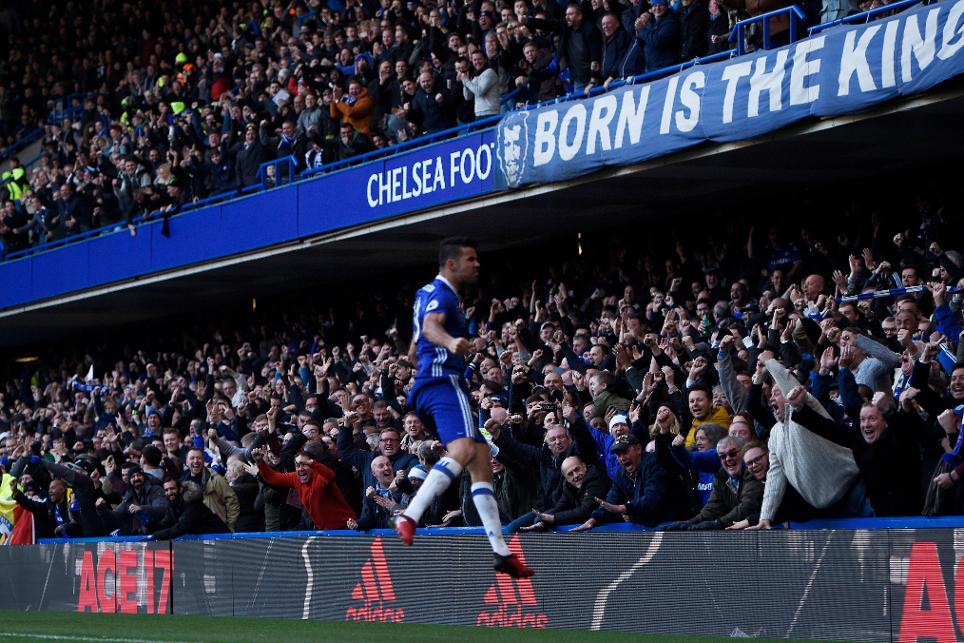 Chelsea's Diego Costa celebrates