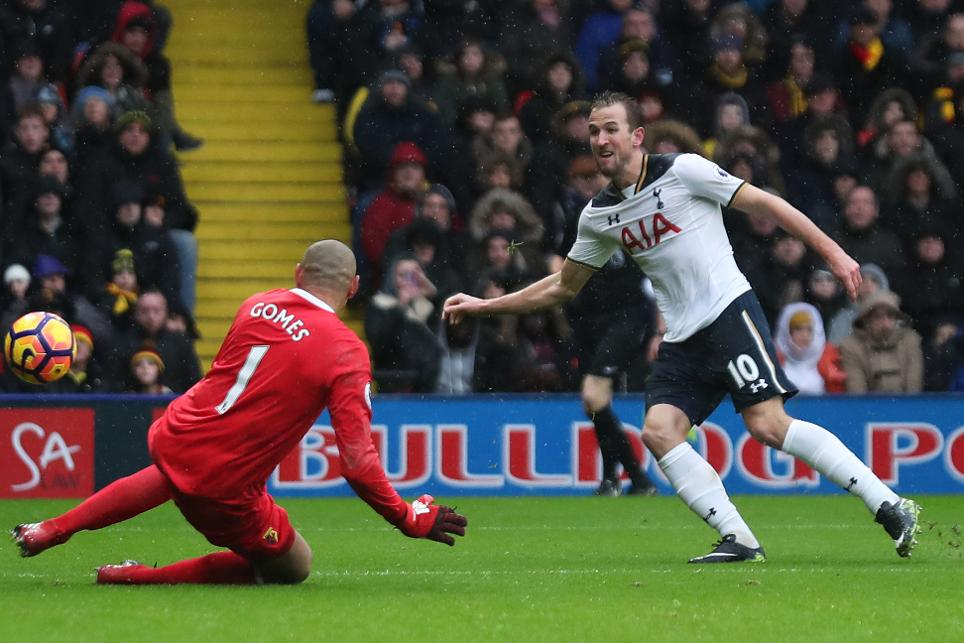 Tottenham's Harry Kane scores their first goal