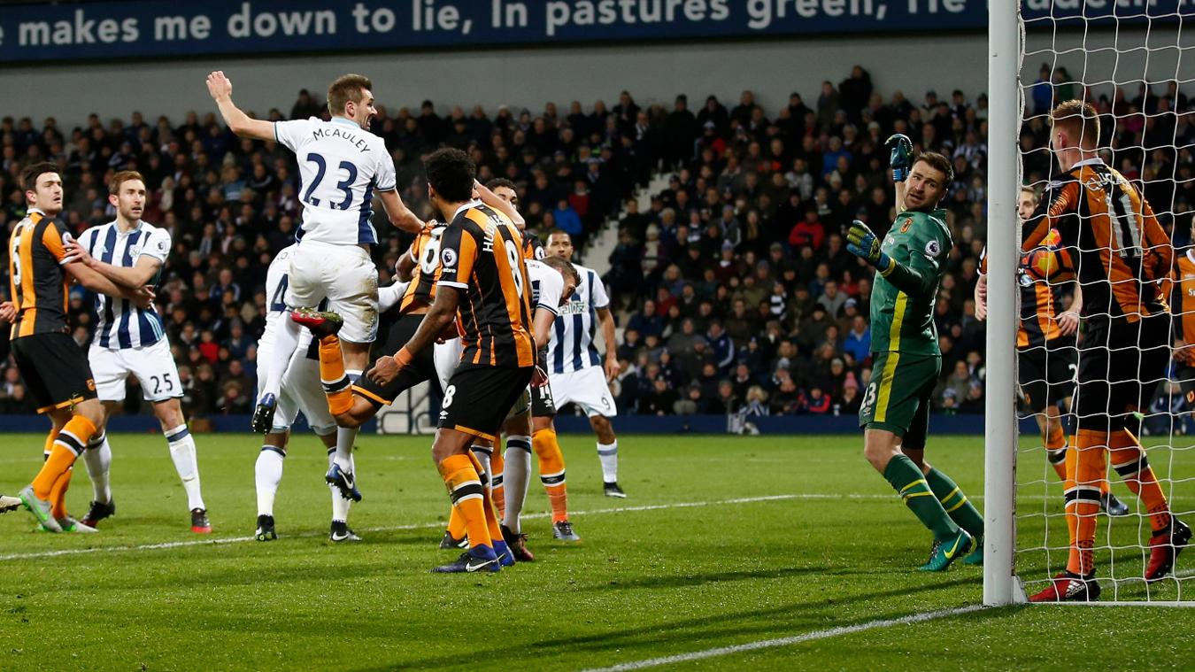 West Bromwich Albion's Gareth McAuley