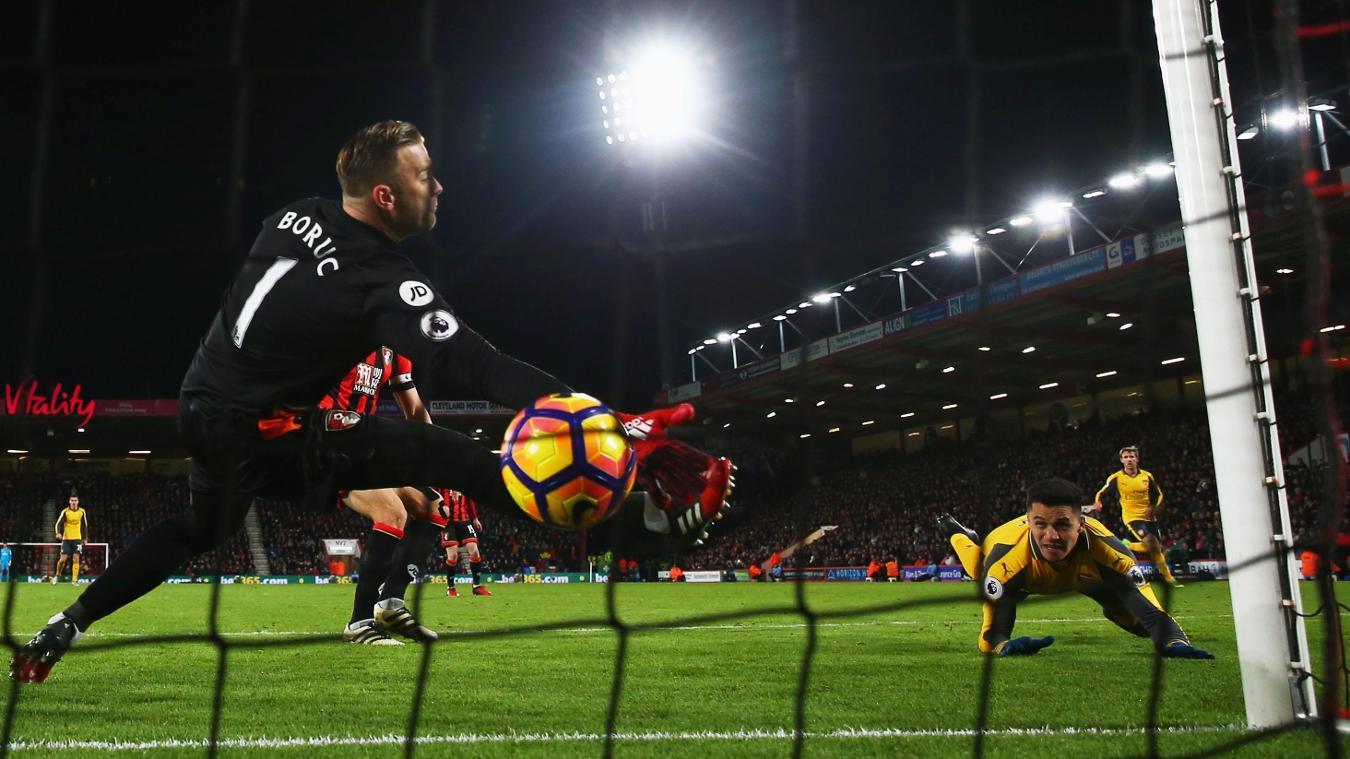 AFC Bournemouth v Arsenal, Alexis Sanchez goal, 030117