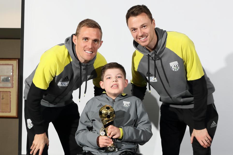 Darren Fletcher, Jonny Evans, West Brom, Albion Foundation disability awards