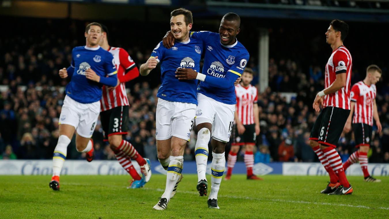 Everton's Leighton Baines