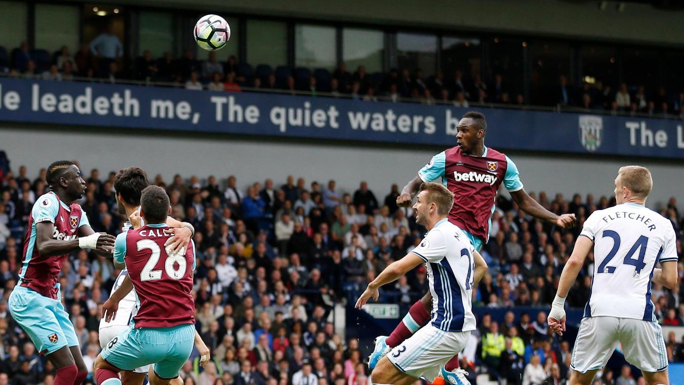 West Bromwich Albion v West Ham United, Michail Antonio scores